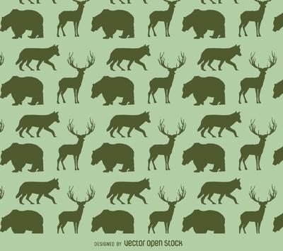 Animals silhouette pattern