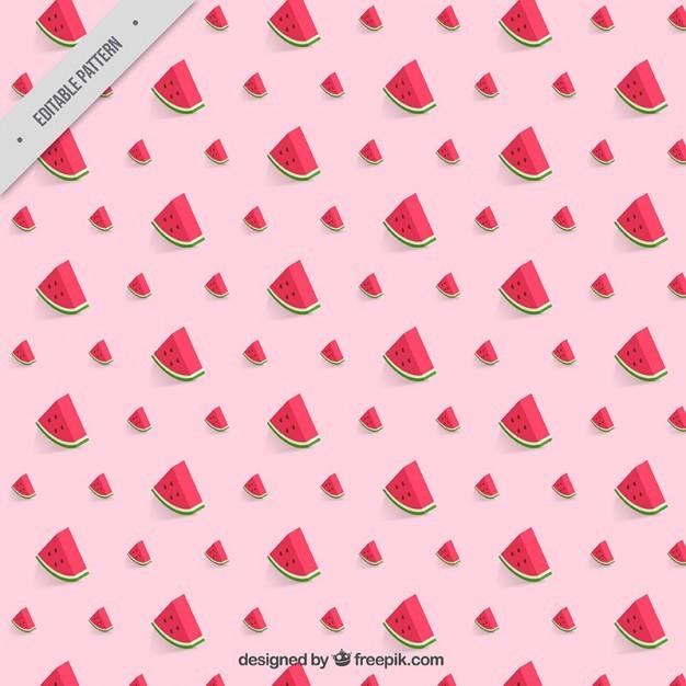 Pink watermelon pattern