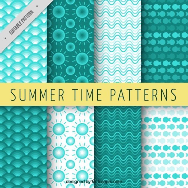 Geometrical green summer patterns