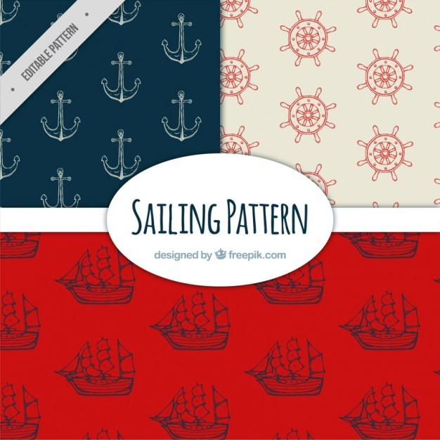 Variety of sailing patterns with drawings