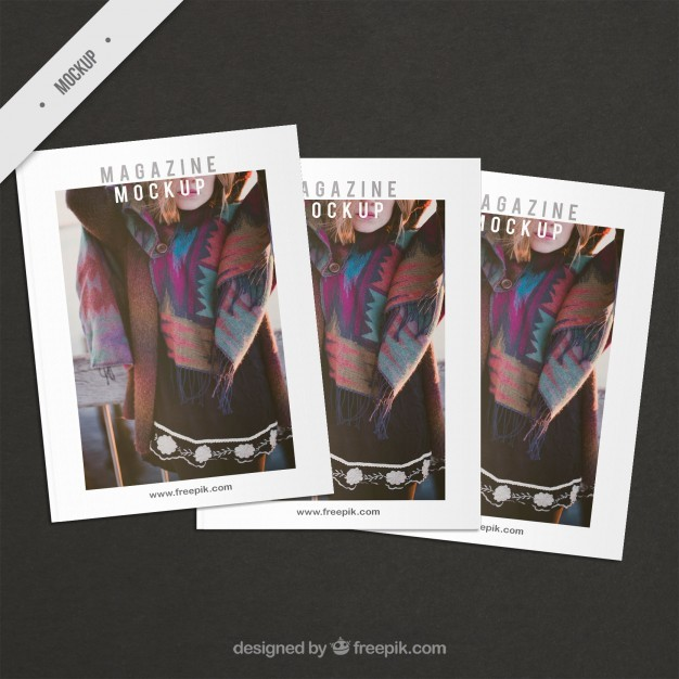 Fashion cover magazine mockups