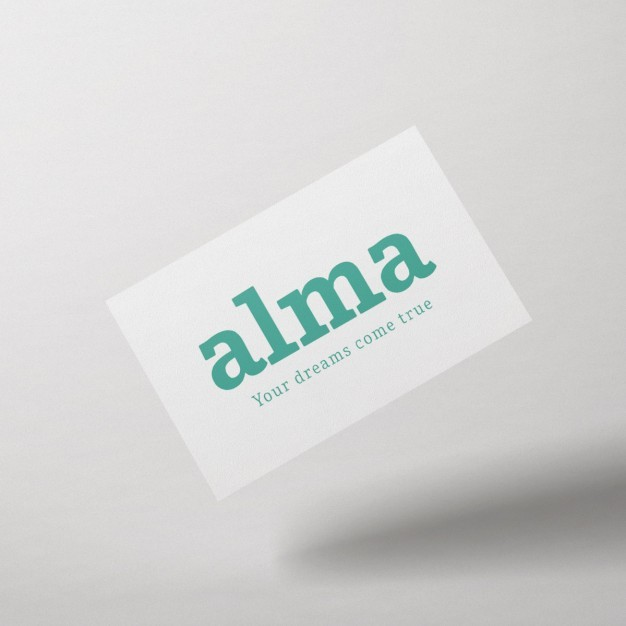 Front view business card mock up