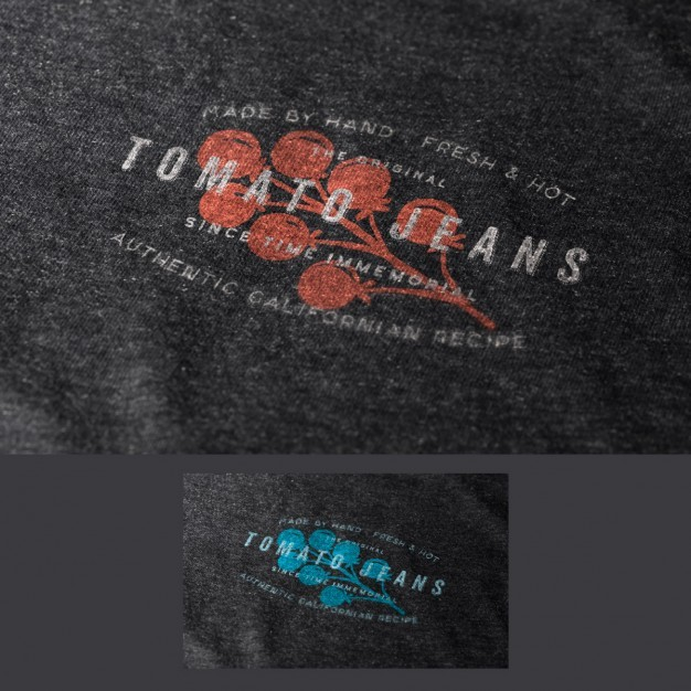 Logo in fabric mock up