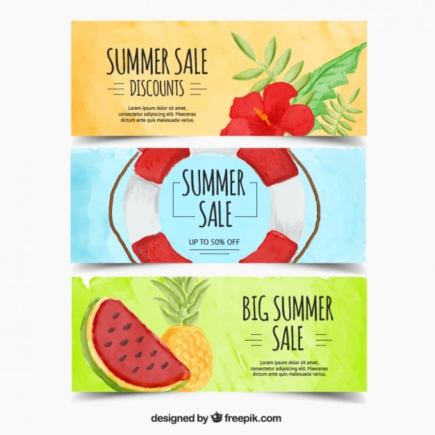 Colourful sale banners
