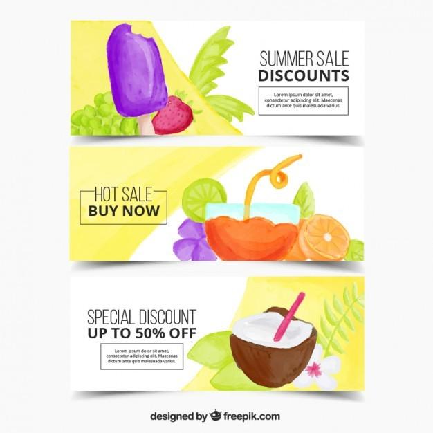 Summer discount banners