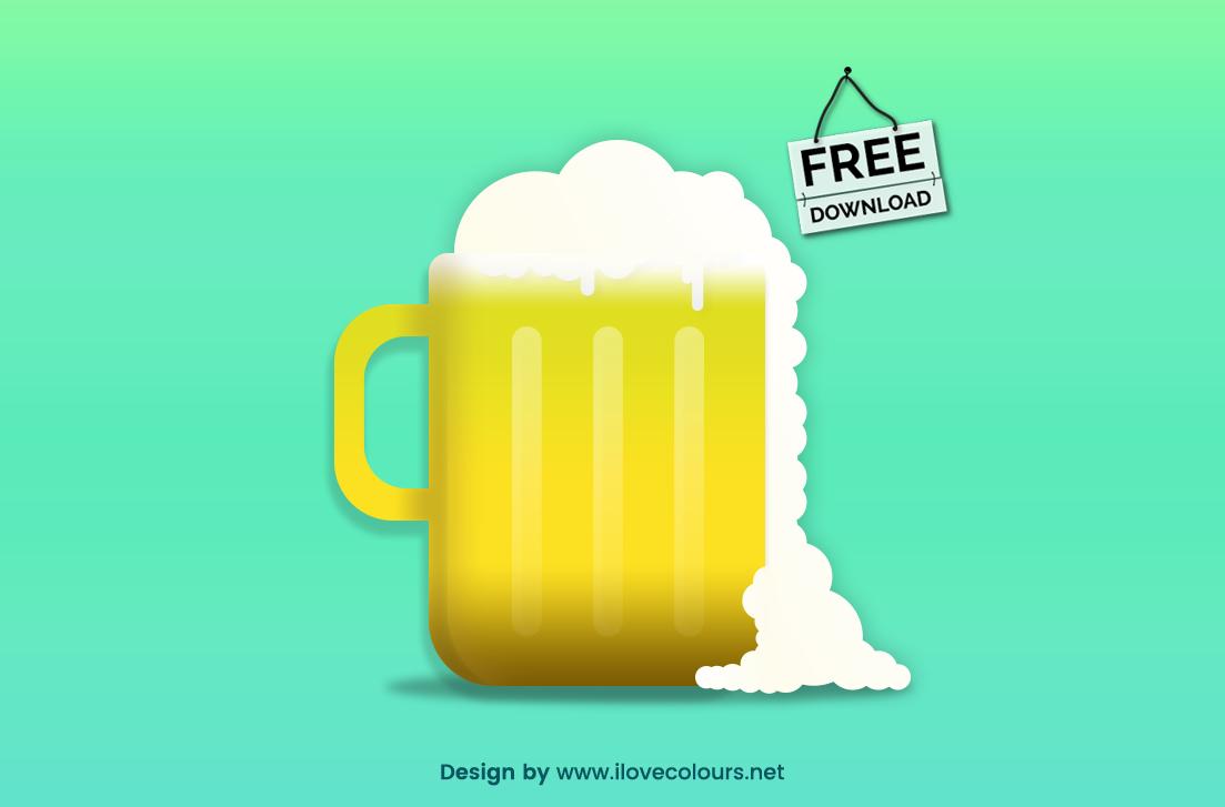 Beer glassware vector illustration