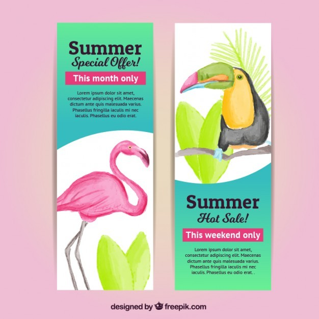 Special sale flyers with animals