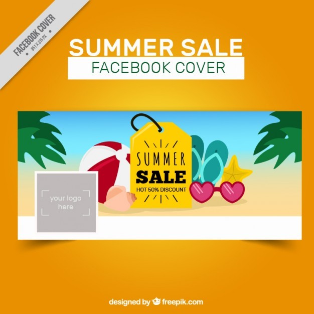 Summer sale promotional cover