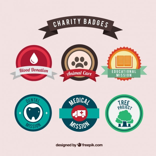 Chariry badges collection