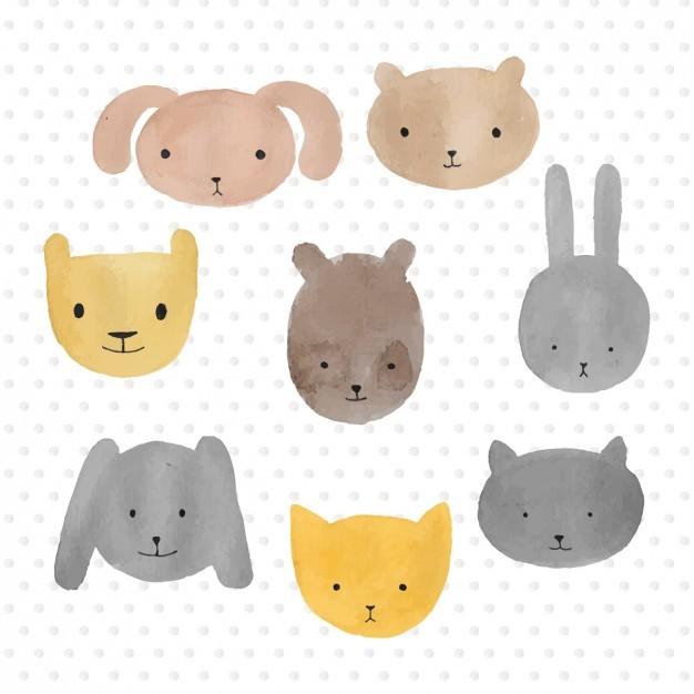Hand painted animal heads