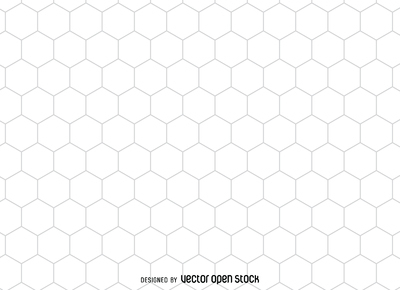 Hexagonal honeycomb pattern