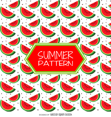 Summer strawberry pattern