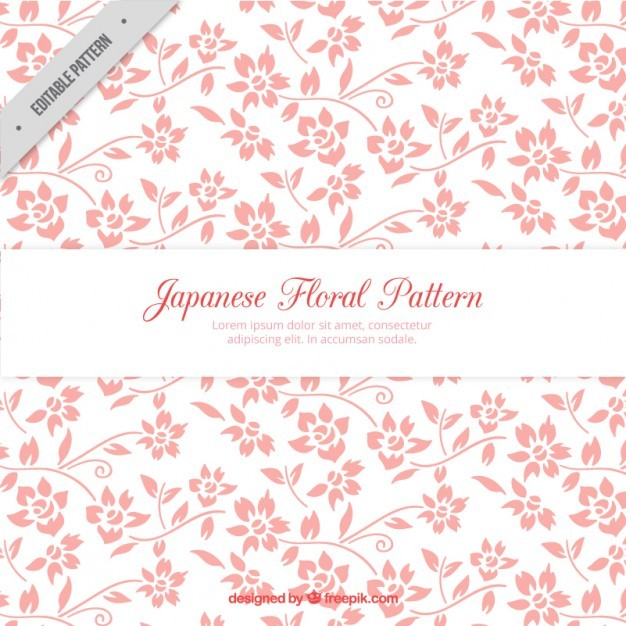 Hand drawn pink flowers pattern