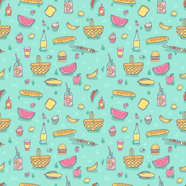 Coloured food pattern
