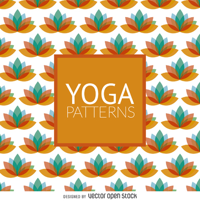 Lotus yoga pattern
