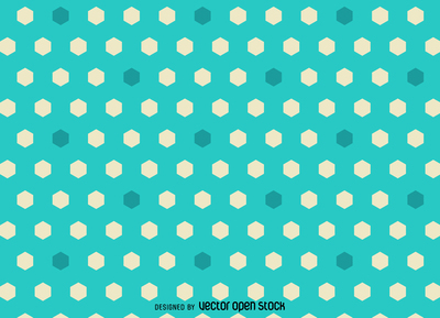 Bright hexagon polygonal pattern