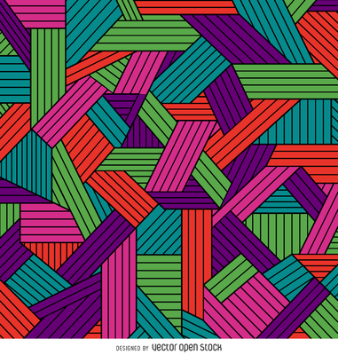 Color ornamental geometric pattern