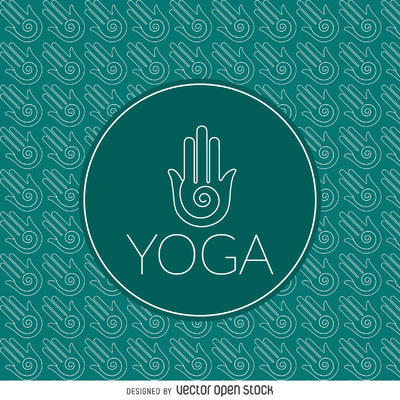 Yoga sign outline pattern