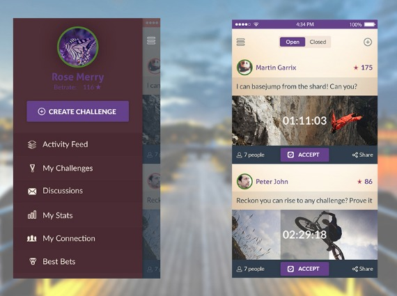 Dashboard App Screen