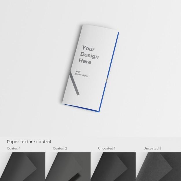 Realistic a5 flyer presentation