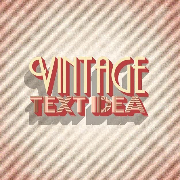 Vintage lettering design