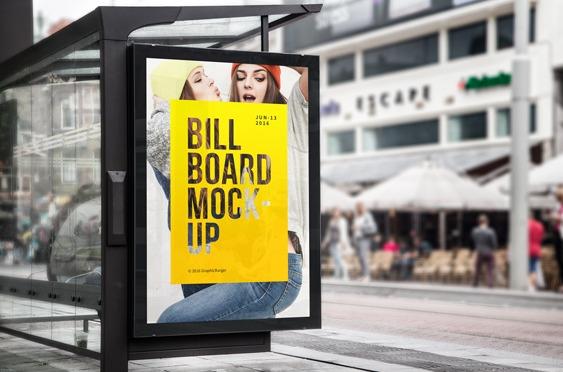 Bus Stop Billboard MockUp
