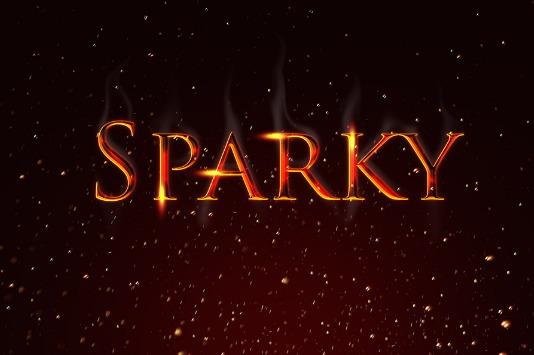SPARKY TEXT EFFECT PSD