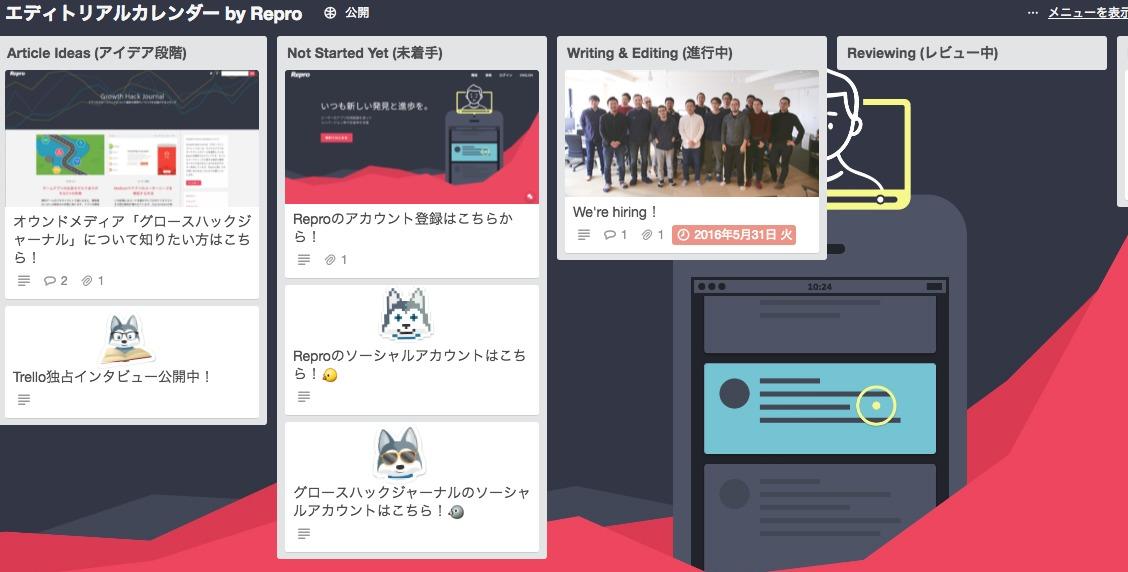 エディトリアルカレンダー by Repro – Copy Me!