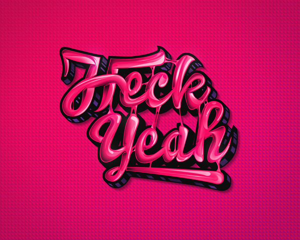 Create a High-Gloss, Bubble Gum Text Effect in Photoshop