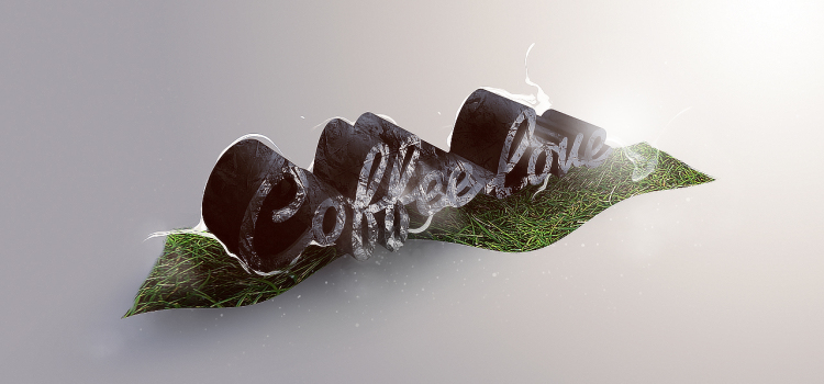 Create Unique 3D Grass And Stone Text Effect In Photoshop CS6 Extended
