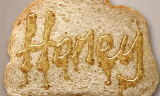 Dripping Honey on Toast Text Effect