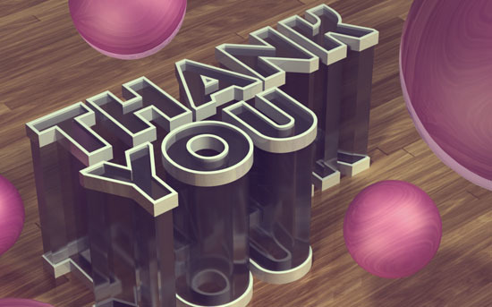 Simple 3D Acrylic Text Effect in Photoshop CS6