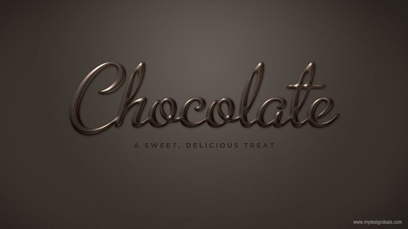 Create a Smooth Chocolate Text Effect in Photoshop