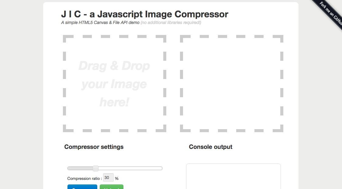 J I C – a Javascript Image Compressor