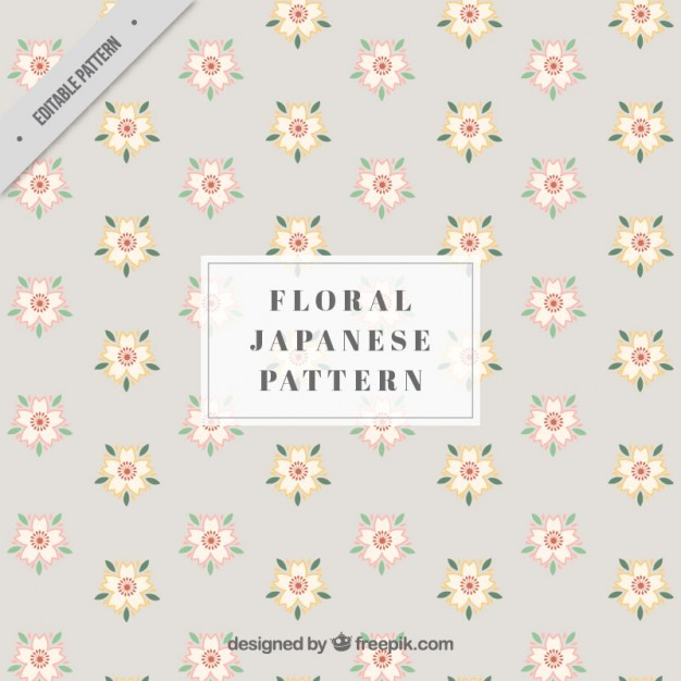 Japanese pattern with flowers