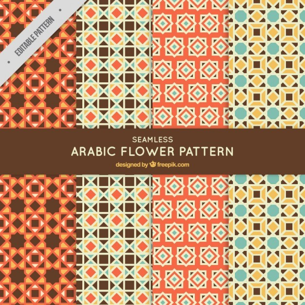 Collection of mosaic patterns in arabic style