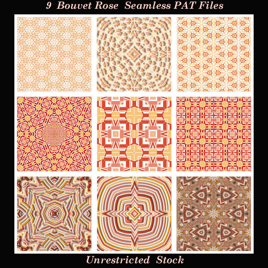 9 Bouvet Rose Seamless PAT Files
