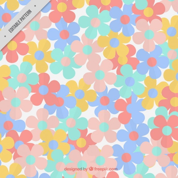 Flowers pattern in soft colors