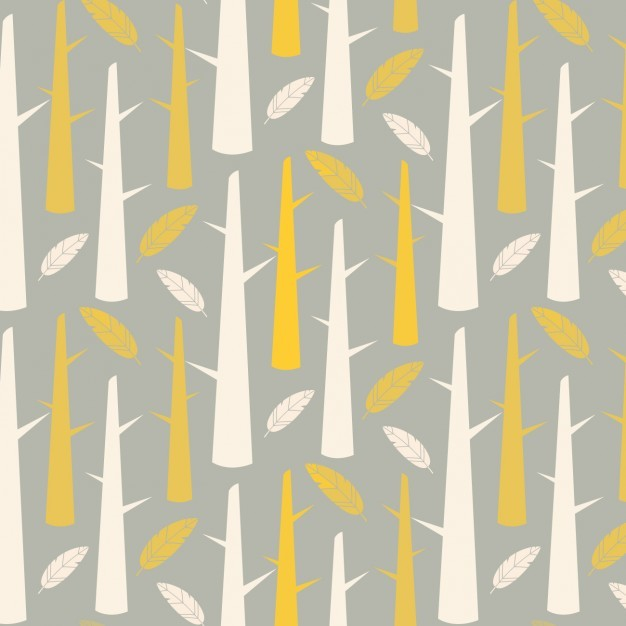 Trunks and feathers pattern design
