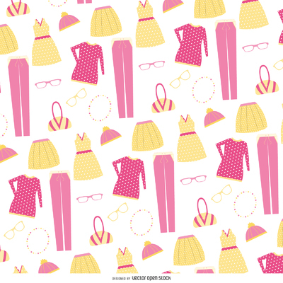 Clothing items pattern