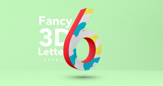 Fancy 3D Letter Psd Text Effect