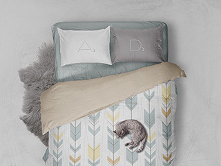Bed Linen Mockup Template