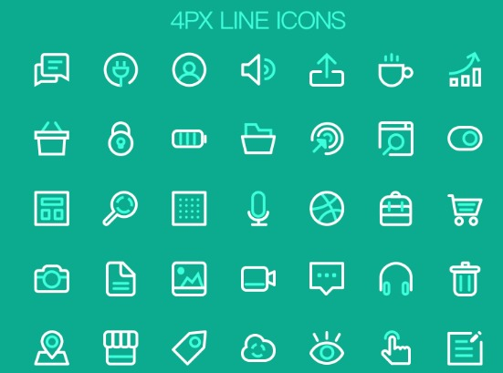 4px Line Icons