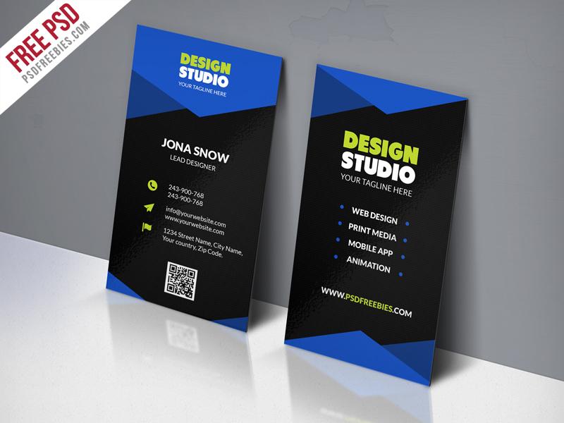 Design Studio Business Card Template Free PSD