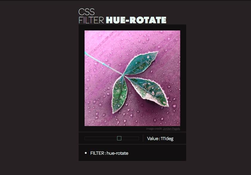 CSS Filter - Hue-Rotate