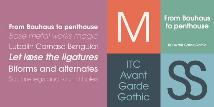 ITC Avant Garde Gothic Alternate