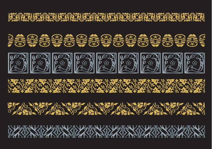 Decorative Arabesco Vector Borders
