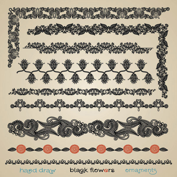 Paper-cut style of classical pattern vector material -5