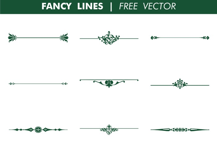 Decorative Fancy Lines Free Vector