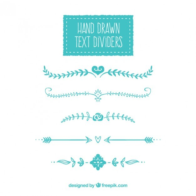 Hand drawn text dividers